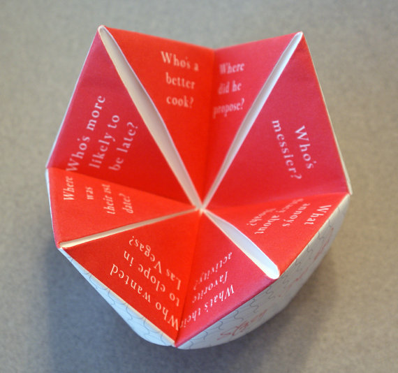 Cootie Catcher Wedding Ceremony Program Idea Outside