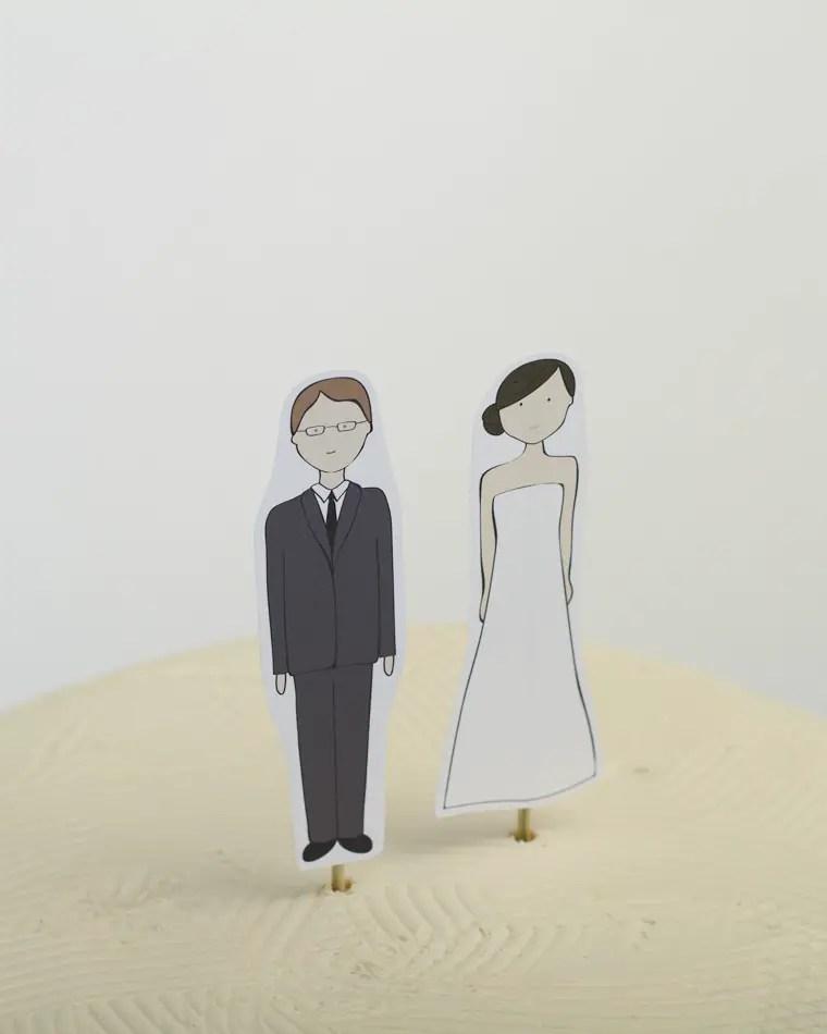custom banner wedding cake topper