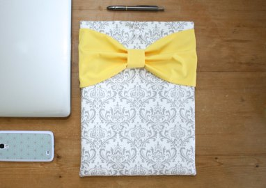 custom cute laptop case with bow