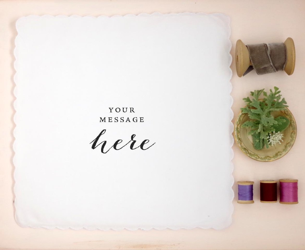 You can have a custom hankie made from your handwriting. Cute gift idea! | personalized wedding handkerchiefs | http://emmalinebride.com/gifts/personalized-wedding-handkerchiefs/