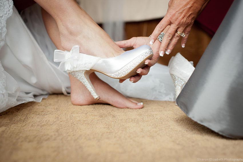 white jeweled wedding shoes