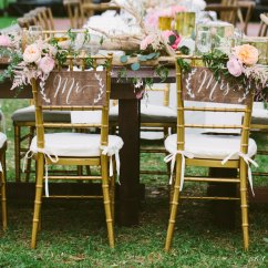Wedding Wooden Chairs Cream Upholstered Chair Bride And Groom Signs 42 Handmade Ideas