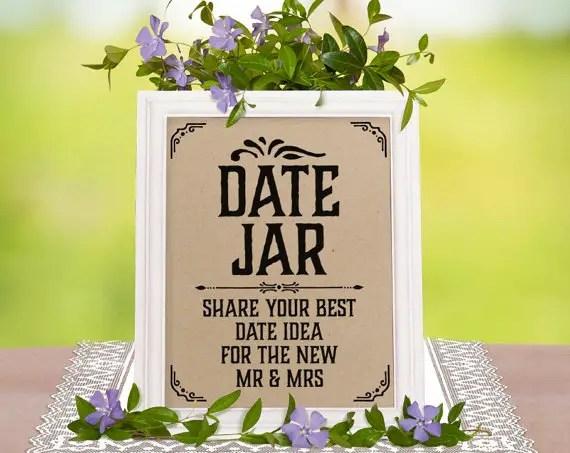 How to Make a Beautiful Date Jar Guest Book for Weddings | http://emmalinebride.com/reception/date-jar-guest-book/