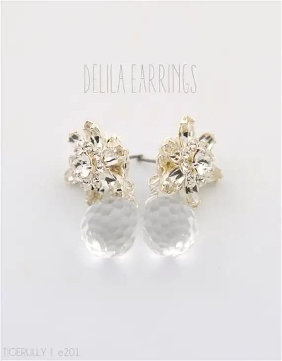 Vintage Drop Earrings (Delila by Tigerlilly Jewelry) #handmade #wedding #jewelry