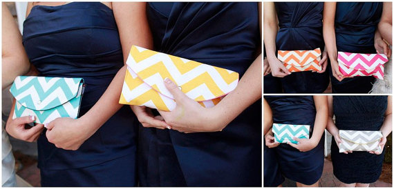 Mismatched Clutches - Pick a favorite color palette or pattern and design your own clutches for your girls