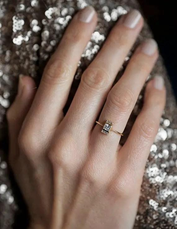 diamond ring | Best Engagement Rings Etsy | via http://emmalinebride.com/jewelry/40-best-handmade-rings-ever/ 