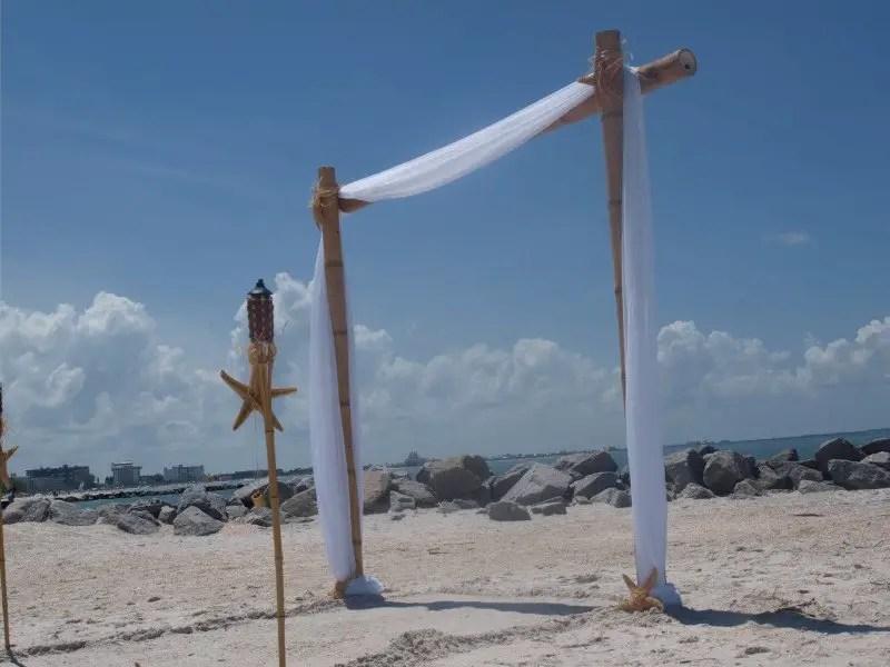 diy beach wedding arch   Best DIY Wedding Projects via http://emmalinebride.com/decor/best-wedding-diy-projects/