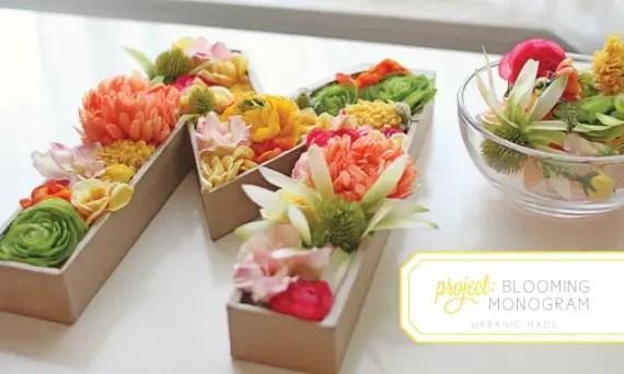 diy floral monogram letter via Easy DIY Wedding Ideas