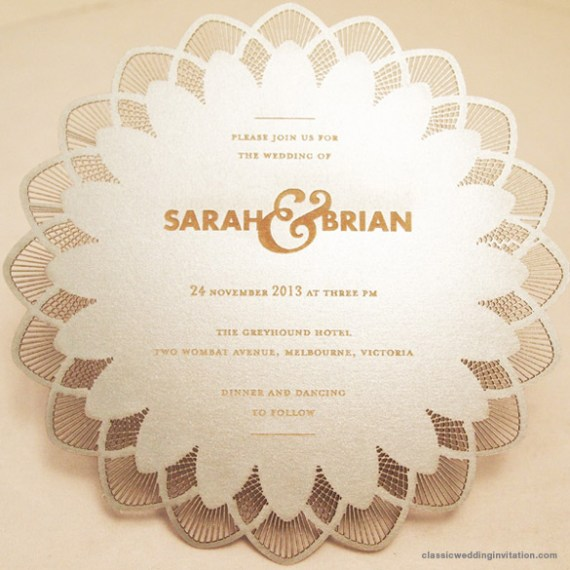 doily cut out invitations