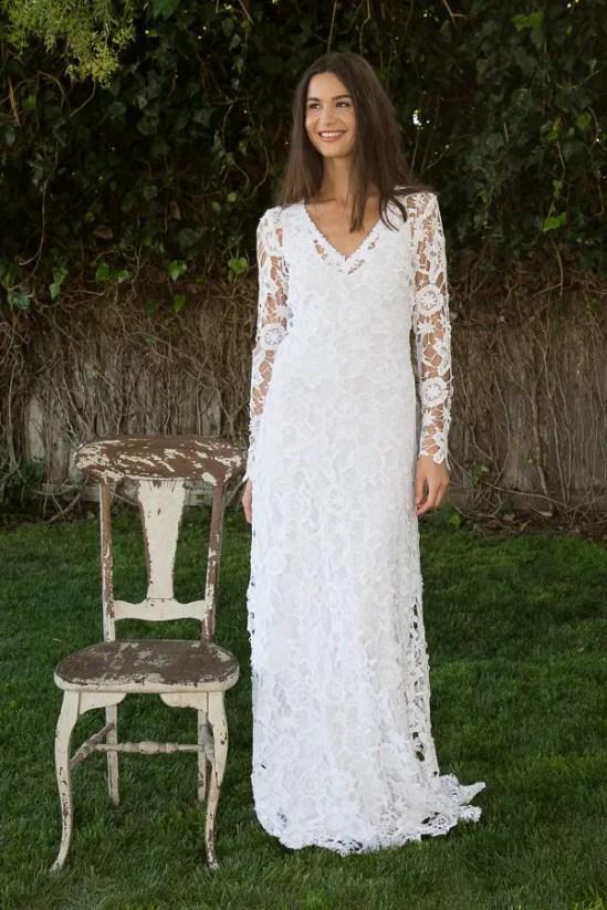 dreamersandlovers bohemian wedding dress