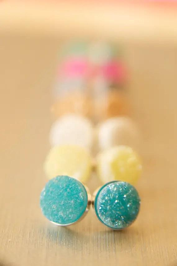druzy earrings | druzy bridesmaid jewelry
