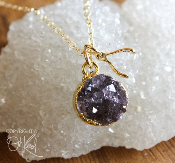 Best Bridesmaid Gifts from A-Z (via EmmalineBride.com) - druzy necklace by ohkuol