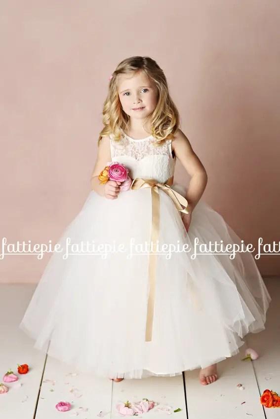 elizabeth flower girl dress tulle (by Fattie Pie) - formal flower girl dresses #wedding