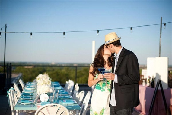How to Plan an Engagement Party - Rooftop! Love this. Photo by Abby Jiu