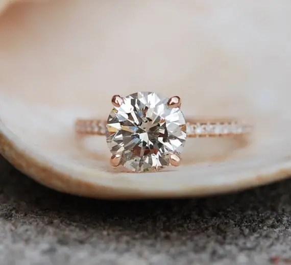 engagement ring by eidelprecious | Engagement Rings Etsy | via http://emmalinebride.com/jewelry/40-best-handmade-rings-ever/