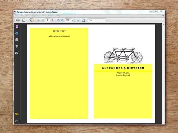 enter your info ceremony program printable