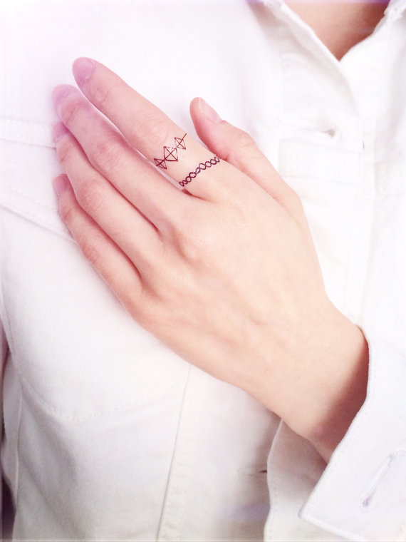 finger ring temporary wedding tattoos