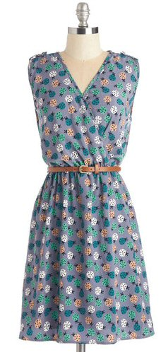 floral-bridesmaid-dress-with-belt