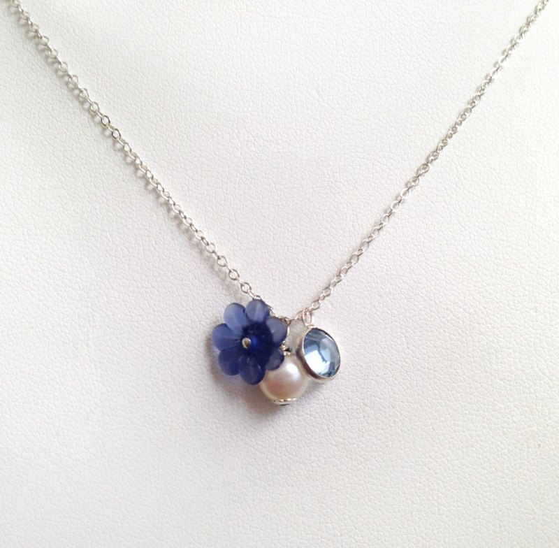 flower girl charm necklace