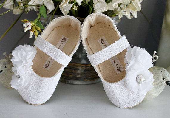Formal Flower Girl Dress Shoes (by Bitsy Blossom) #handmade #wedding