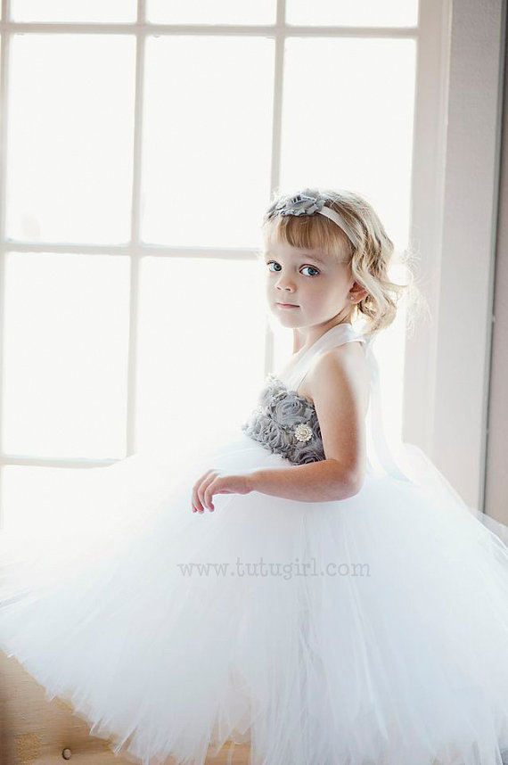 Formal Flower Girl Tutu (by Tutu Girl) #handmade #wedding