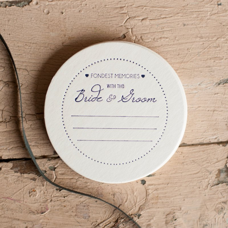 fondest memories with the bride and groom wedding coasters