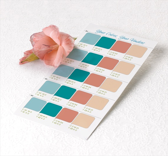 How to Choose a Wedding Color Palette - free wedding color palette swatches