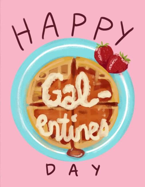 galentines waffles