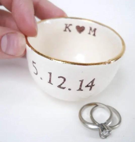 gold luster ring dish