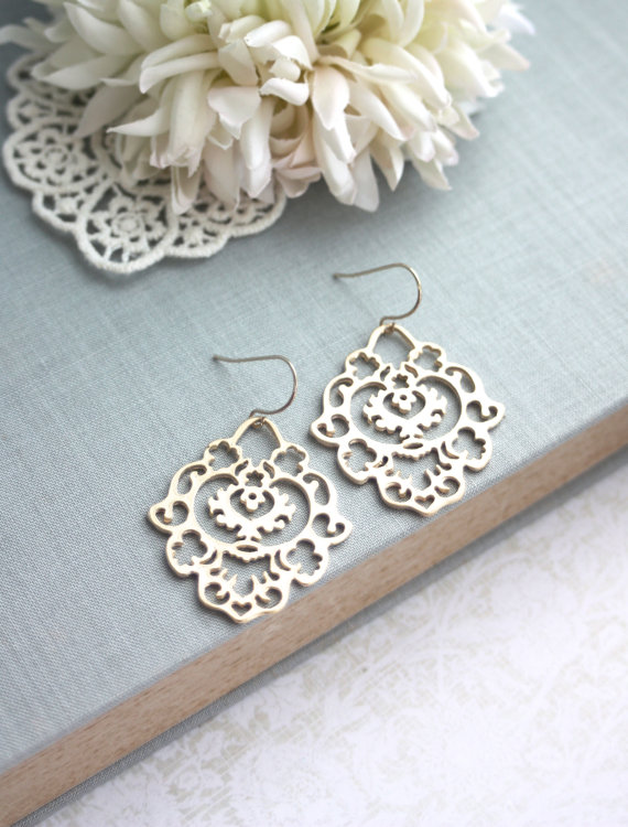 gold moroccan filigree earrings