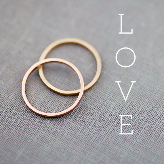 handcrafted jewelry (by lily emme jewelry) - gold bands