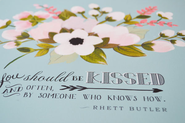 gone with the wind quote | #wedding Wedding Poster Ideas for (Easy!) Decor