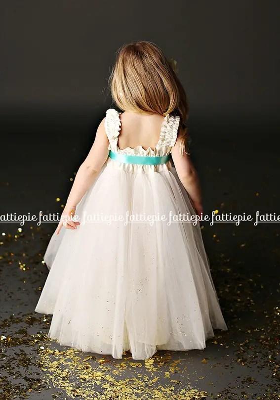 grace ankle length flower girl dress (by Fattie Pie) - formal flower girl dresses #wedding