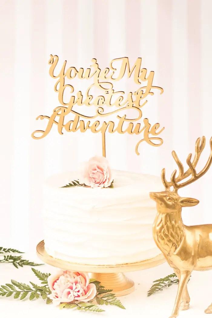 greatest adventure cake topper