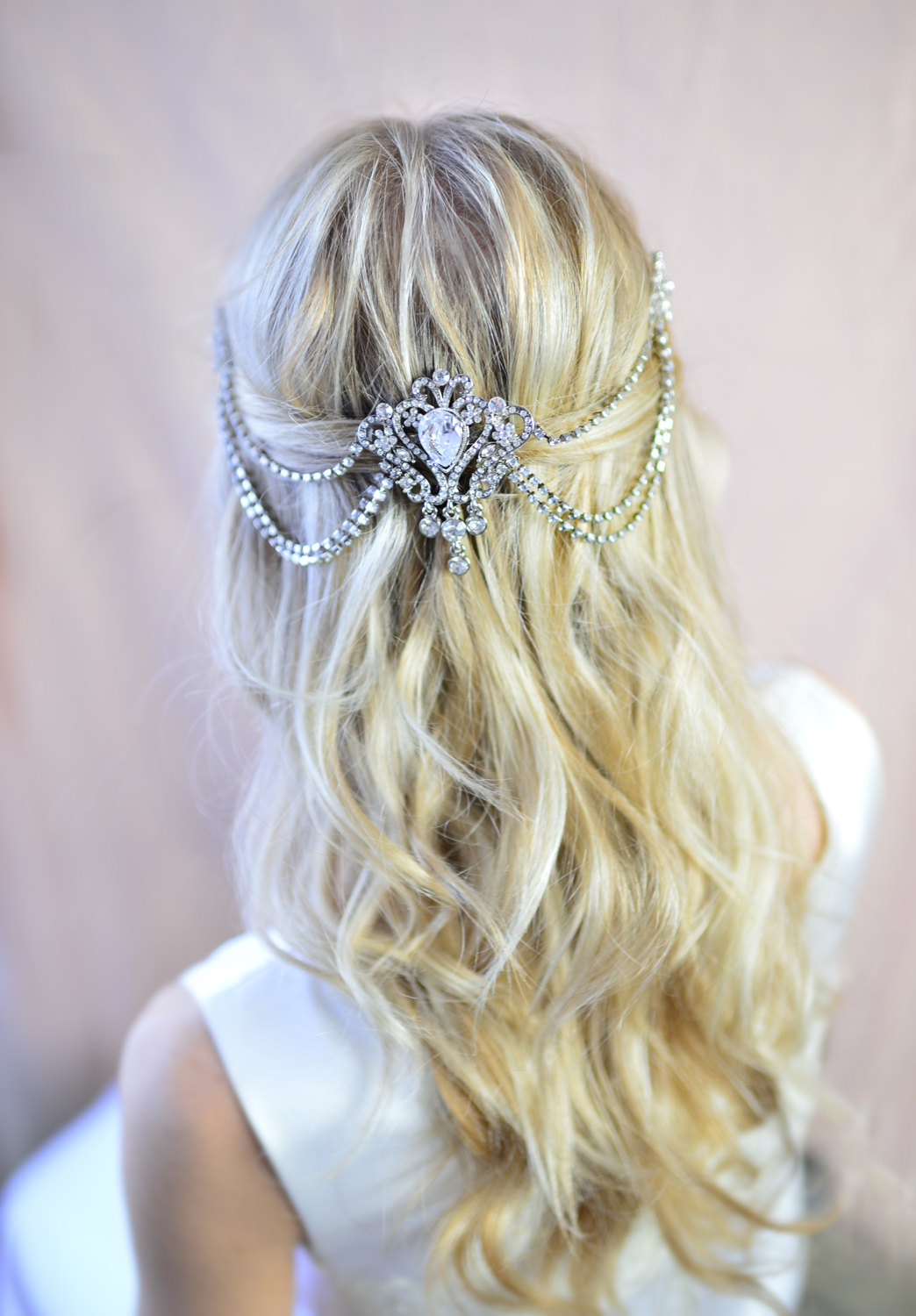 grecian hair comb | what to wear instead of a veil