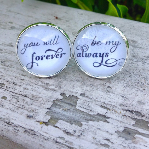 groom cufflinks - you will forever be my always