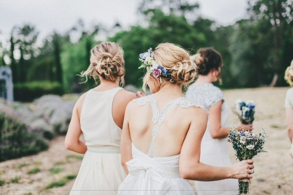 hair crown worn with chignon or bun via 3 Tips for Wearing a Hair Crown (photo: the robertsons)