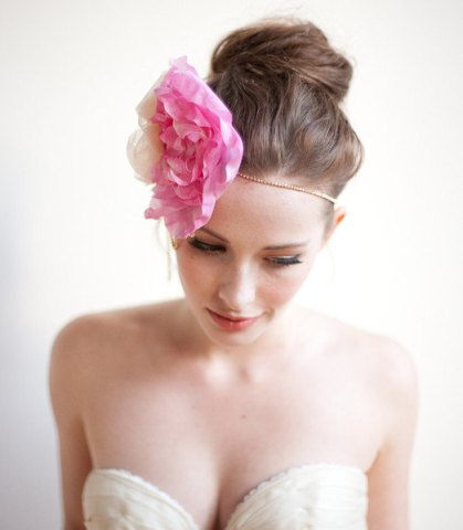 hair wrap with large flower