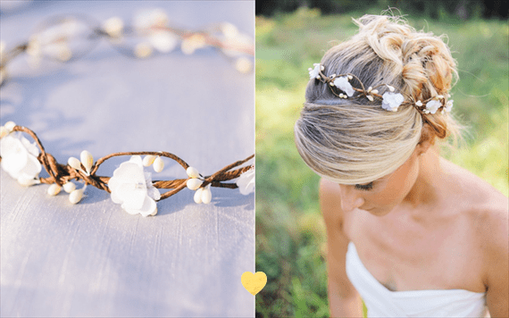 Rustic Bridal Hair Crown for Fall Weddings