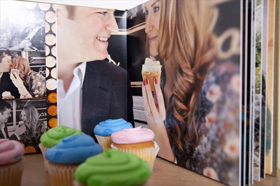 handmade wedding albums cupcakes