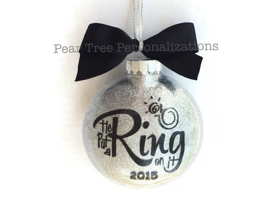 he put a ring on it ornament by peartreepersonal