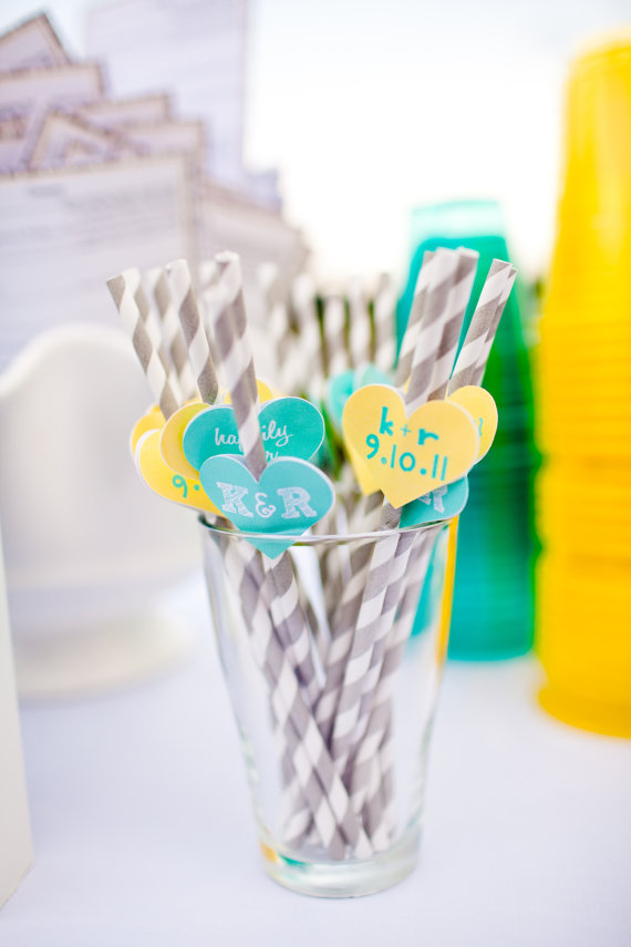 7 Clever Wedding Drink Accessories (heart flag striped straws by miss prissy paige)