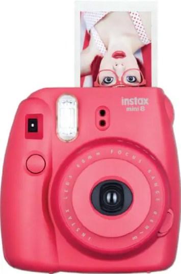 hot pink instax photo camera