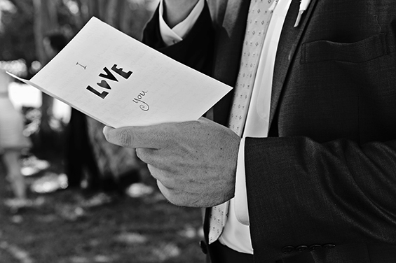 Must-Have Detail:  Write a Letter to the Groom (photo: brooke brooks)
