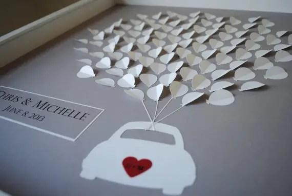 3D Balloon Guest Book Alternative (by Suzy Shoppe via Emmaline Bride) #handmade #wedding