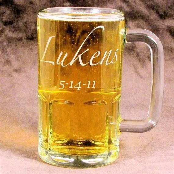 Personalized groomsmen beer mug - Best Groomsmen Gifts