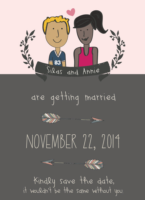 illustrated save the dates