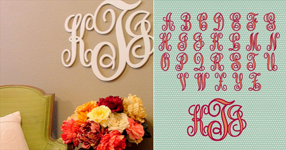 image of custom wedding monogram