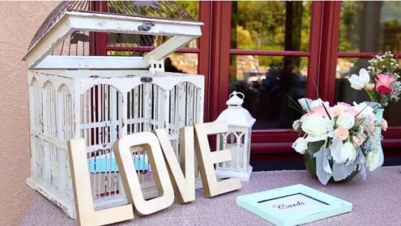 wedding love sign and card box