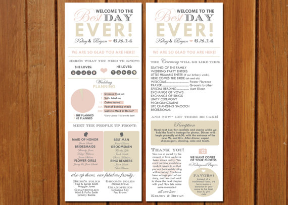 Wedding Program Inforgraphic Idea